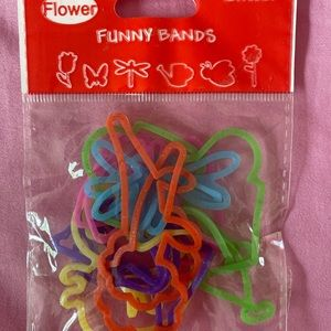 NWT Flower Glitter Silly Bands